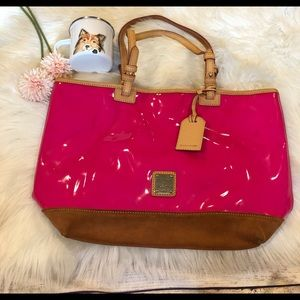 Dooney & Bourke Tote Patent Leather Suede …